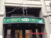 il mitico ristorante da Peo al Moderno.