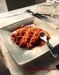 spaghettini al sugo rosso